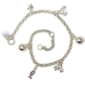 anti-tarnish 925 silver bracelet sea animal & ball